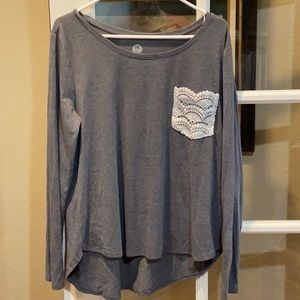 So Authentic American Heritage Lace Pocket Top